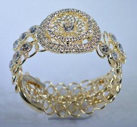 faiza fasion Peacock Pearl Studded Antique Gold Plated Bangle kada Bracelet Set Jewellery For Women And Girl