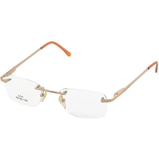 affable Rimless Rectangular Unisex Spectacle Frame - A167 47 mm