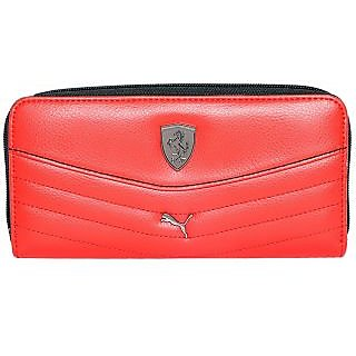 Puma New Red Clutch Wallet For Women's