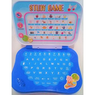 Learning Kids Laptop, Study Game Kids Mini Laptop English Learner Study Game Computer Notebook Toy, Size- 15/12 cm