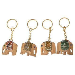 Maruti Multi-Colored Keychains (maruti add agency098, Pack of 4)