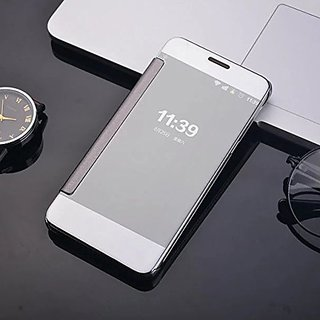 nice shoes 859c8 4a234 Redmi Note 3 Luxury Clear View Mirror Smart View Case Flip Cover For Redmi  Note 3 - (Silver)