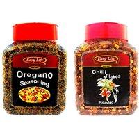 Easy Life Oregano Seasoning 250gm + Roasted Chilli Flakes 200gm