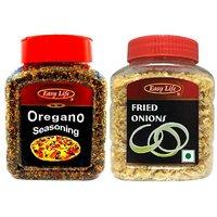 Easy Life Oregano Seasoning 250gm + Fried Onions 100gm Combo