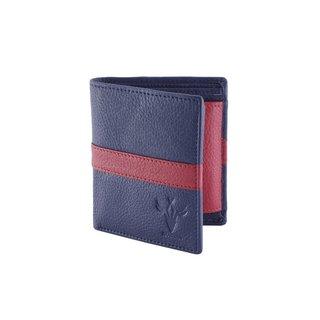 Krosshorn Blue Leather Wallet for Men