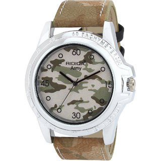 RIDIQA Analog Army Designed color strap casual wear watches for men and boys RD-130