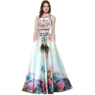 VH FASHION Crepe Multi Color digital printed Women's Wear Stiched Skirt VHBC-16