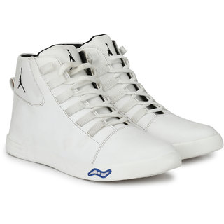 Drake Men's White Ankle Casual Sneakers