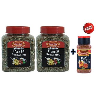 Easy Life Combo Pack of Pasta Seasoning (125g x 2Pcs) + Free Peri Peri Seasoning (75g)