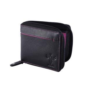 Krosshorn Black Leather Wallet for Men