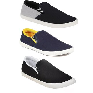 Chevit Men's Combo Pack Of 3 Casual Shoes, Loafers