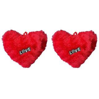 Atorakushon Pack of 2 Teddy Valentine Gift Special rose fur heart for Girlfriend wife husband boyfriend her him 15 CM