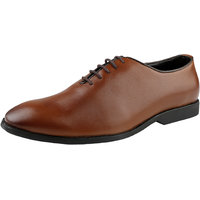 Kanprom Tan Formal Oxford Genuine Leather Shoes For Men