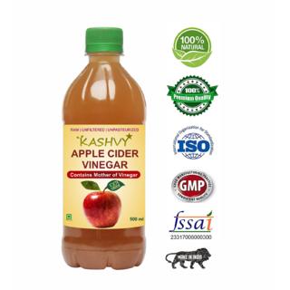 Kashvy Raw, Unpasteurized Apple Cider Vinegar With Mother of Vinegar, 500 ml Kashvy Raw, Unpasteurized Apple Cider Vineg
