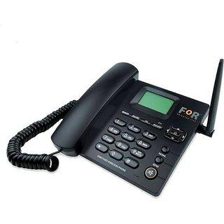 Dual SIM F1+ GSM Fixed Wireless Phone Corded Cordless Landline Phone (Black)