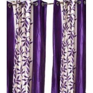 Tejashwi traders kolavery purple WINDOW curtains set of 2 (4x5)
