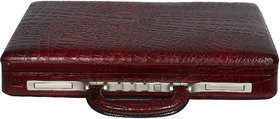 OBANI Genuine Leather Briefcase Office Bag Brown