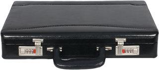 OBANI Faux Leather Briefcase Black