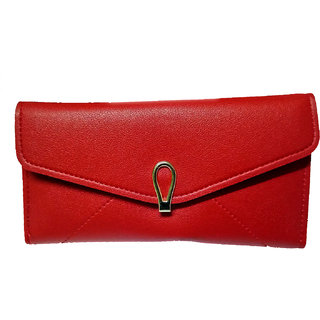 Sagar Collection Women's Leathter Wallet  ( Color - Red )