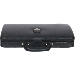 OBANI Genuine Leather Briefcase Office Bag Black