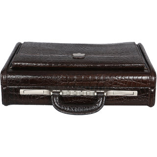 OBANI Genuine Leather Secret Briefcase Office Bag