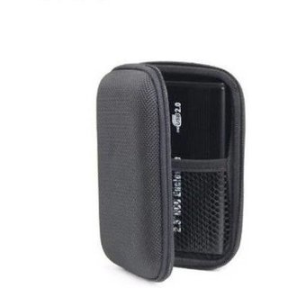 Black Hard Disk case for 2.5 Inch External Hard drive, Water Proof, Shock Resistant  (For Dell, WD, Toshiba, Mat Black)