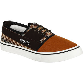 Armado Men's-784 Brown Sports Running Shoes
