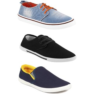 Chevit Men's Combo Pack Of 3 Sneakers With Loafers