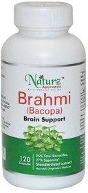 Naturz Ayurveda Bacopa (Brahmi) - 120 count - 300mg Natural Brain power for mental clarity & Optimal mental functioning