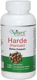 Naturz Ayurveda Haritaki / Harad/ Terminalia chebula -120 count-300 mg for digestion, metabolism and detoxification