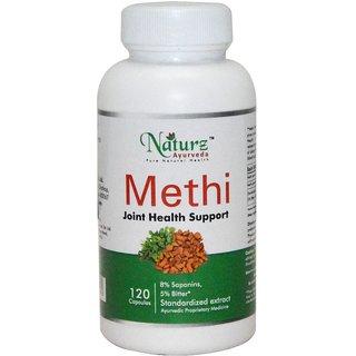 Naturz Ayurveda Methi / trigonella foenum-graecum / Fenugreek -120 count-500 mg with Bitter actives to manage sugars