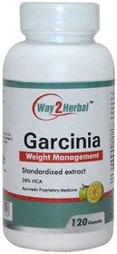 Way2herbal Garcinia cambogia, 300 mg, 120 counts - Fat blocker pills