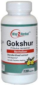 Way2herbal Gokshura Tribulus, 350 mg capsules, 120 counts -  Rejuvenation support