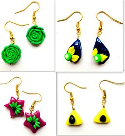 multi color earring combo