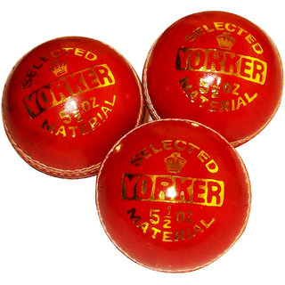 YORKER 2 pc LEATHER CRICKET BALL - PACK OF 3