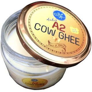 Aadvik A2 Cow Pure Desi Ghee 250 ml Pack  ( Churned Traditionally )