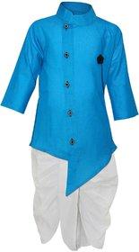 Tumble Blue Full Sleeves Kurta and Dhoti Set