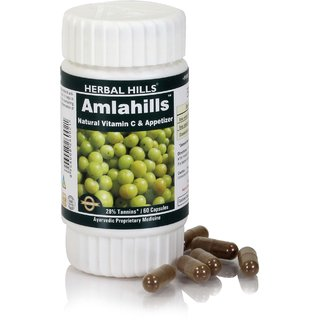 Herbal Hills Ayurvedic Amla or Amlaki (Emblica officinalis) Powder and Extract blend - 60 capsule 425mg