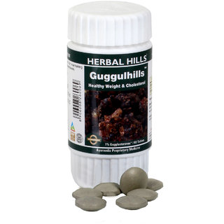 Herbal Hills Ayurvedic Guggul (Commiphora mukul) Gugglasterone extract - 60 Tablets 500 mg