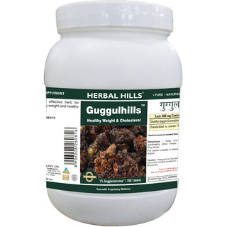 Herbal Hills Premium Quality Guggulu tablets 700 in a pack - Controls lipids and helps relieve Pain in the Joints
