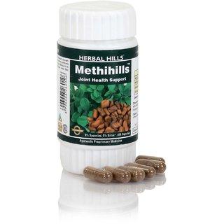 Herbal Hills Ayurvedic Fenugreek / Methi (trigonella foenum-graecum) Powder and Extract blend-60 capsule 500 mg