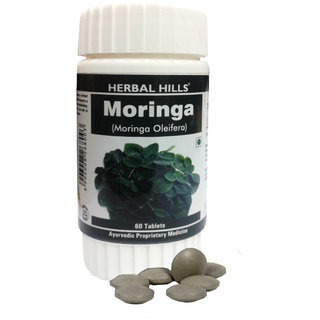 Herbal Hills Moringa leaf / Shugru / Drumstick leaf (Moringa Oleifera) Powder -60 tablets 500 mg
