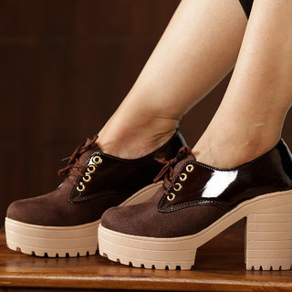 Trendy Look Brown Heel Shoe