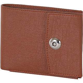 Martell Genuine Brown Buckle Lock Leather Wallet For Men/Boys