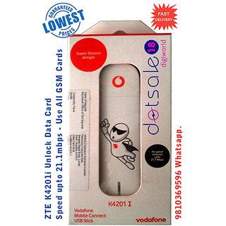 ZTE Unlocked K4201i- Vodafone Logo 21.1 Mbps 2G 3G USB Modem Data Card K4201