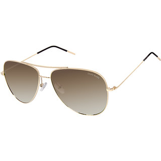 David Blake Brown Aviator Gradient UV Protected Sunglass