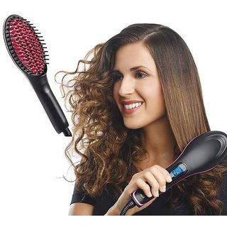 Hair Straightener Simply Straight Ceramic Brush Hair Styler
