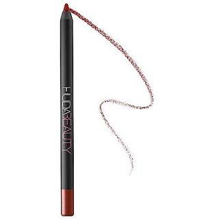 HUDA BEAUTY Lip Contour Matte Pencil - COLORCheerleader- a delicately muted red Matte finish
