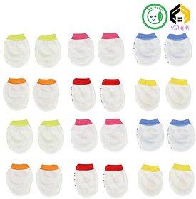 Vijkan Aarushi Born Baby Cotton Mittens Multicolor Set of 12 Pairs