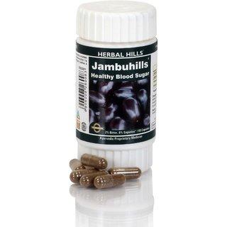 Herbal Hills Ayurvedic Eugenia jambolana (Java plum) Powder and Extract blend - 60 capsule 425 mg